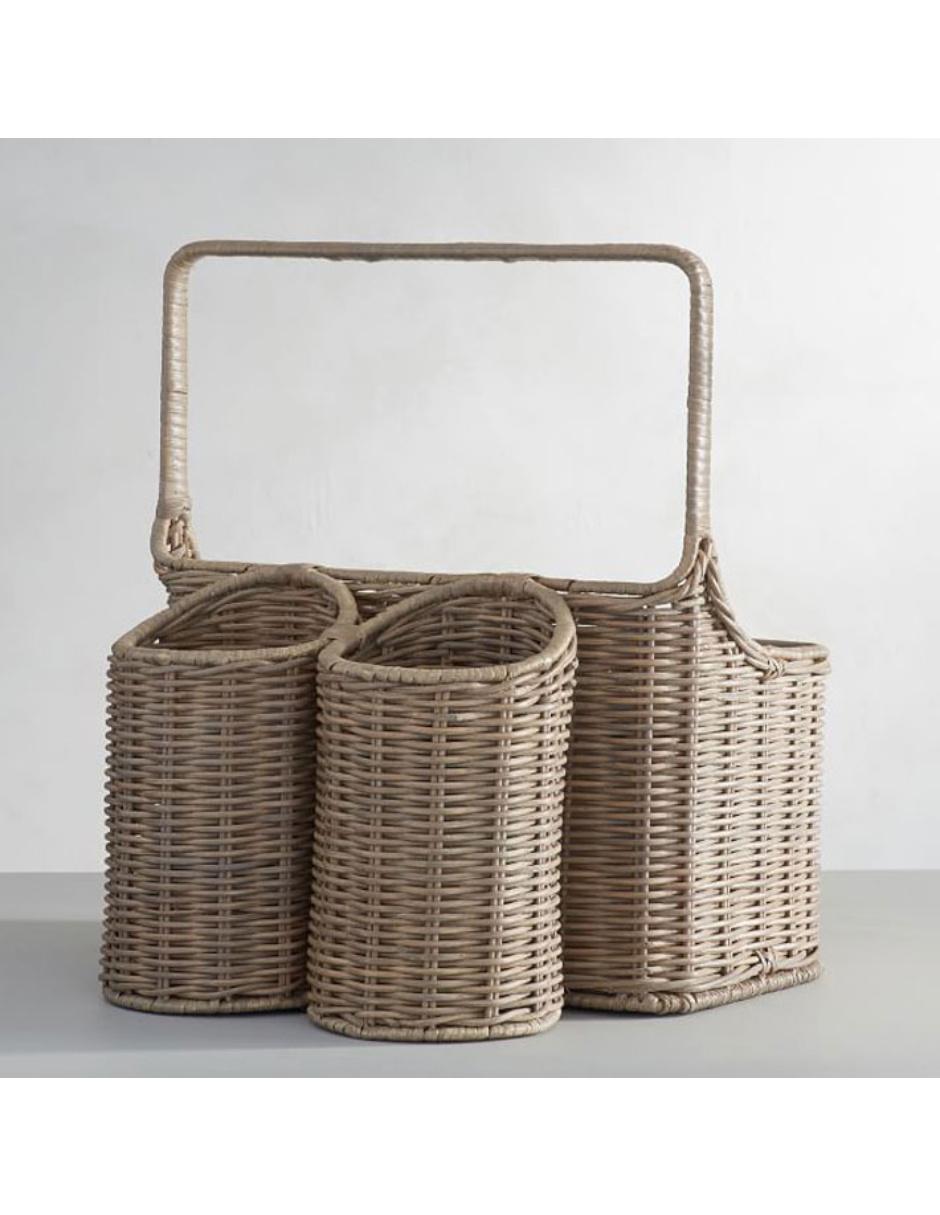 Barn Picnic Canasta Willow Woven Pottery Para nwOm8Nv0